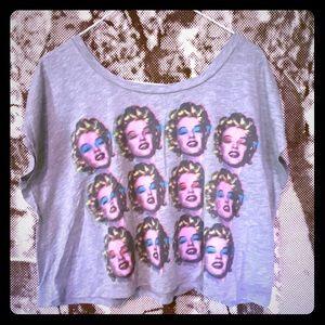 2/15$ Marilyn Monroe Pop art crop tee